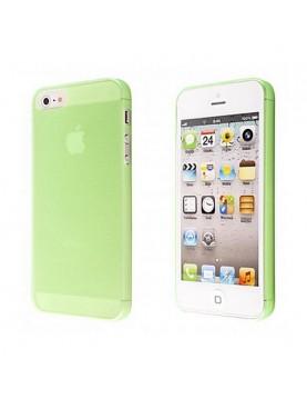 Coque iPhone 5/5S, SE Silicone souple translucide Vert.