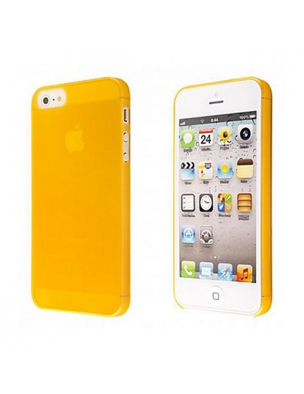 Coque iPhone 5/5S Silicone souple translucide Orange.