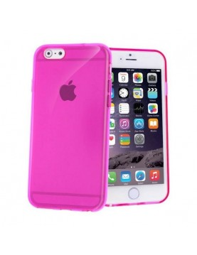Coque iPhone 5/5S Silicone souple Rose translucide.