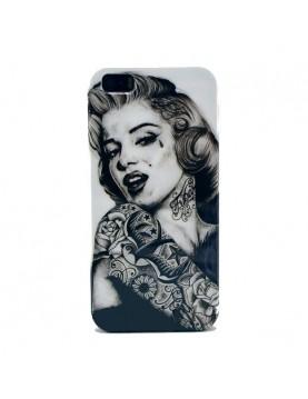 "Coque iPhone 5/5S ""Marilyn  Monroe bras tatoué """