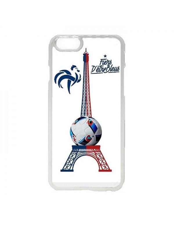Coque iPhone 5/5S Foot 2016 fiers d'être bleus tour Eiffel bleu blanc rouge