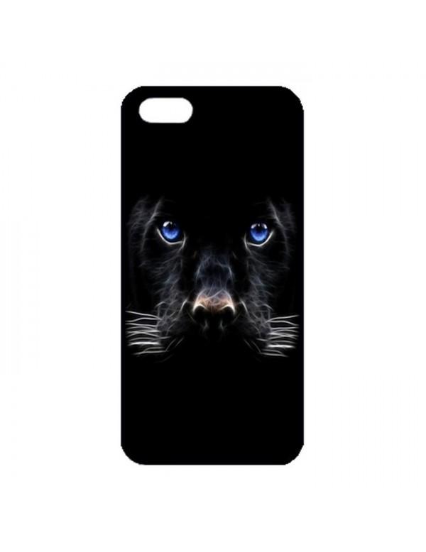 Coque iPhone 5/5S Panthere noire aux yeux bleus