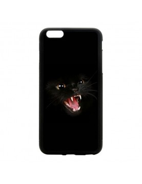 Coque iPhone 5/5S Chat noir terrifiant