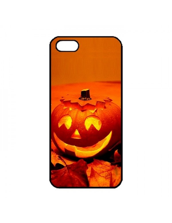 Coque iPhone 5/5S Halloween citrouille orange