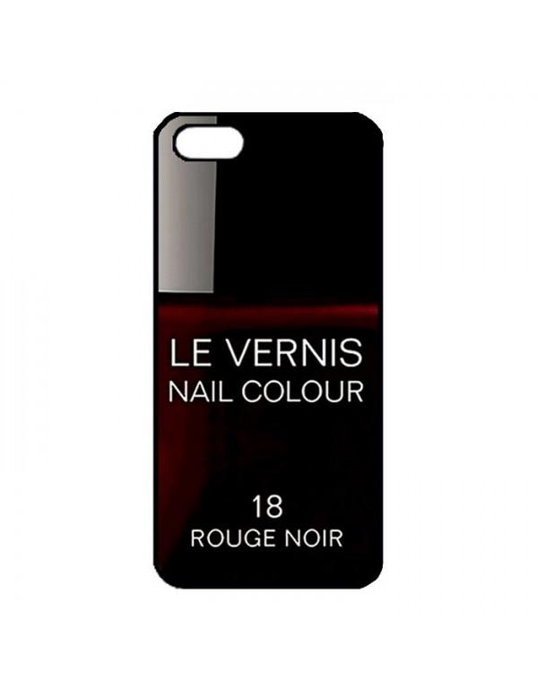 Coque rigide iPhone 5/5S, SE - Le Vernis-18-Rouge Noir