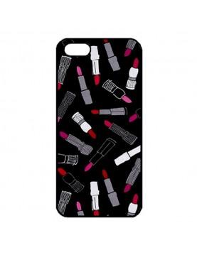 Coque iPhone 5/5S Rouge à lèvres sur fond noir