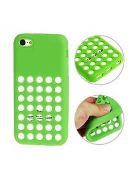 coque-silicone-vert-iPhone-5-5s-se-a-trous