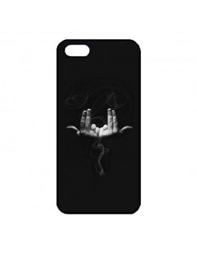 Coque noir pour iPhone 5/5S - Geste rappeur Jul
