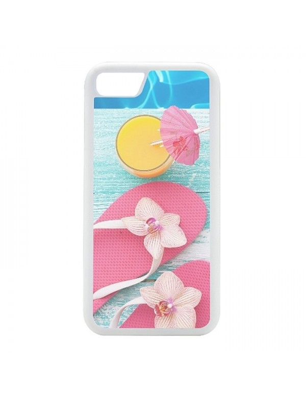 Coque rigide pour  iPhone 7/8  tongs cocktail plage