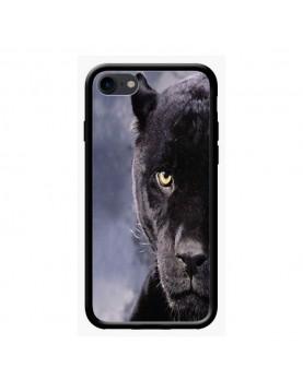 Coque iPhone 7/8 rigide - Regard panthère noire