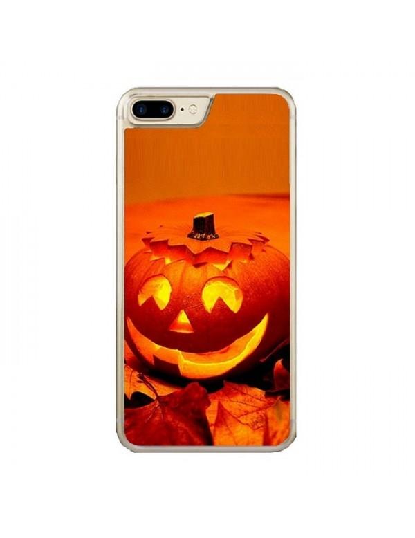 Coque iPhone 7 PLUS/8 PLUS -  Halloween citrouille orange