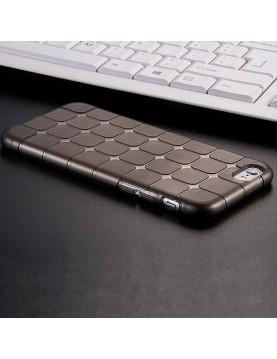 Coque iPhone 7 PLUS/8 PLUS, silicone noir translucide petits carrés