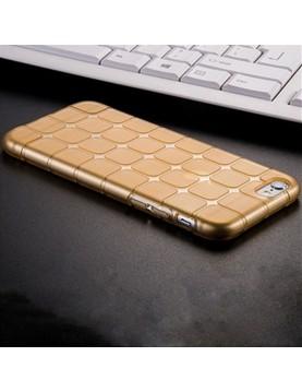Coque iPhone 7 PLUS/8 PLUS, silicone or translucide petits carrés