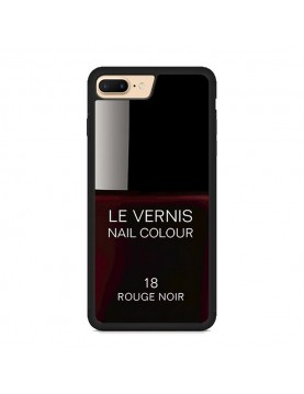 Coque rigide iPhone 7 PLUS/8 PLUS, Le Vernis-18-Rouge Noir