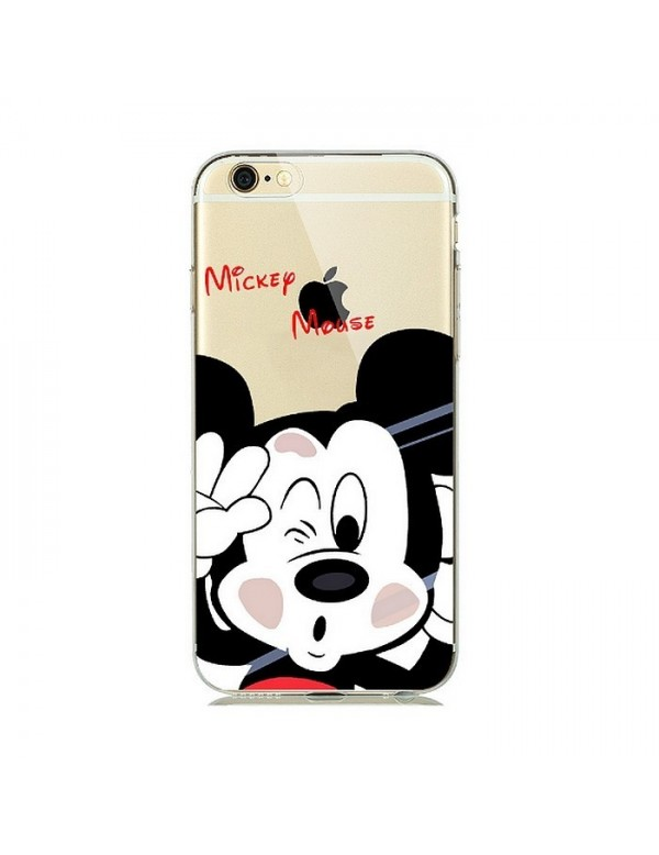 Coque silicone transparente Mickey mousse pour iPhone 7 PLUS/8 PLUS
