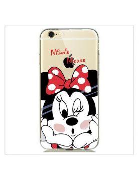 Coque silicone transparente Minnie mousse pour iPhone 7 PLUS/8 PLUS