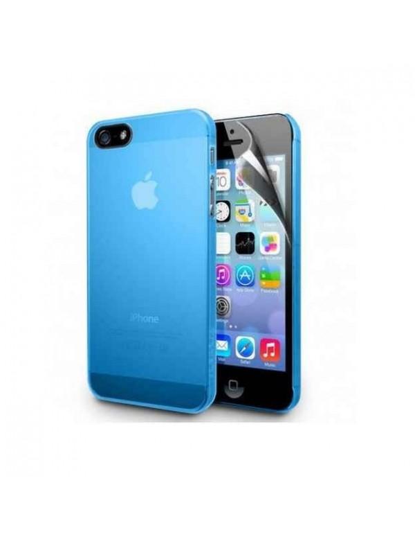 Coque silicone bleu ciel iPhone 4/4S