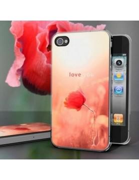 "Coque rigide iPhone 4/4S - Poppy Love ""I love you"""