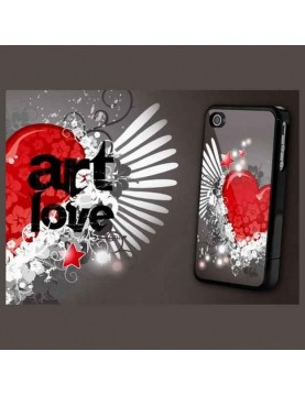 Coque rigide iPhone 4/4S - Coeur Art love