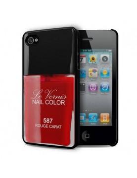 Coque rigide iPhone 4/4S - Vernis rouge Carat