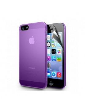 Coque iPhone 4/4S en silicone Violet translucide