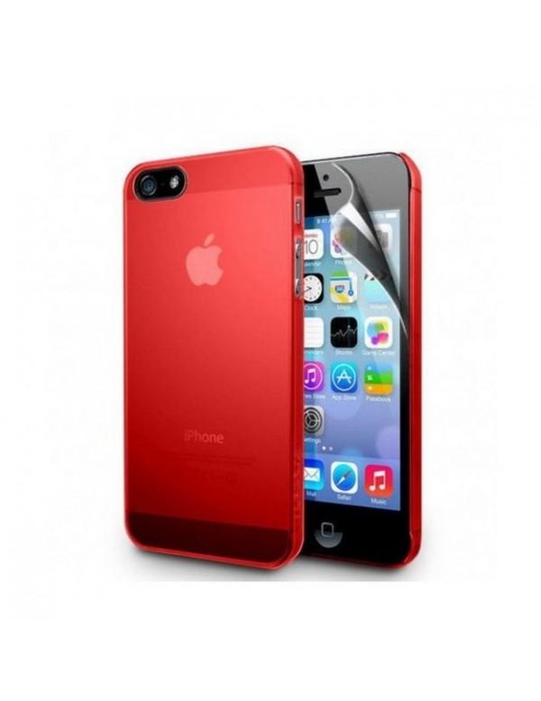 Coque silicone iPhone 4/4S Rouge translucide