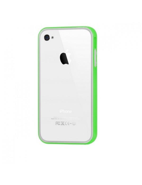 Coque iPhone 4/4S en silicone Vert foncé