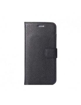 Etui portefeuille iPhone 6 Plus/6S Plus - Folio Grainé noir