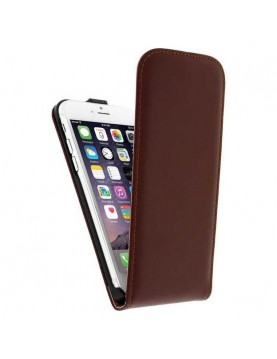 Etui à clapet iPhone 6 plus/6S Plus - Simili cuir marron