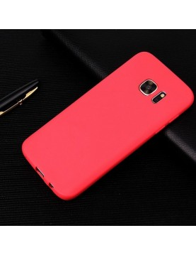 Coque silicone Samsung Galaxy S8 PLUS - Rouge antidérapant